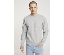 Sweatshirt mit Brusttasche light grey melange