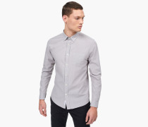 Nadelstreifen Button Down Hemd stone