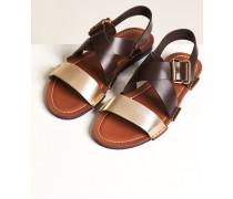 Sandale mit Metallic Effekt light grey