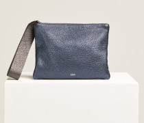 Metallic Clutch dusty blue