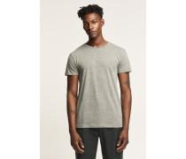 T-Shirt aus Melange Jersey olive nights