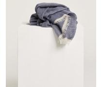 Schal aus Schurwolle &amp: Cashmere dusty blue