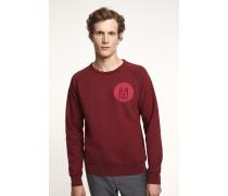 Sweatshirt mit Print ruby red