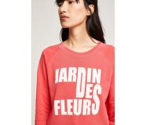 Sweatshirt mit Print fuchsia