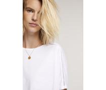 Shirt mit Spitze white
