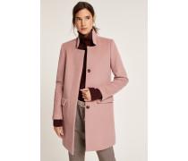 Mantel aus Schurwolle und Kaschmir Pori rose