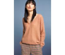 Pullover mit V-Ausschnitt rose orange