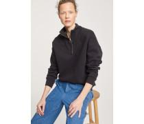 Sweatshirt mit Half Zip black