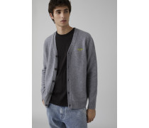 Cardigan mit Stickerei grey heather melange