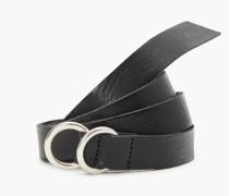 Ledergürtel mit Ringschließe black