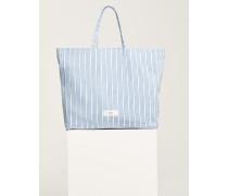Striped Beach Bag light blue