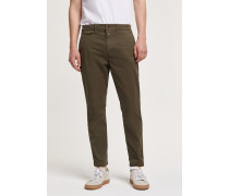 Atelier Cropped Brushed Chino deep woods