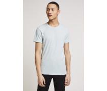 T-Shirt aus Melange Jersey pale turquoise