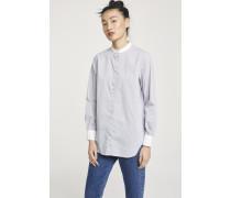 Longshirt mit Stehkragen misty grey