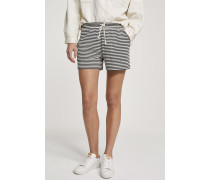Gestreifte Shorts blanched almond