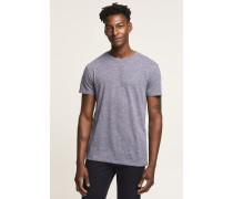 T-Shirt aus Melange Jersey new woad