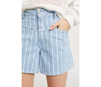 "Worker ""85 Striped Denim Shorts light blue"