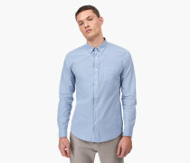 Nadelstreifen Button Down Hemd pigeon blue