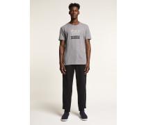 x F. Girbaud T-Shirt mit Print grey heather melange