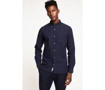 Button Down Hemd aus Oxford dark night