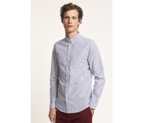 Button Down Hemd aus Oxford dark night