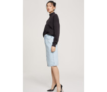 Rigid Denim Skirt light blue