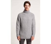 Pullover aus Royal Baby Alpaka Mix grey heather melange