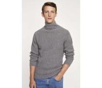 Stehkragen Pullover grey heather melange