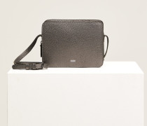 Boxy Shoulder Bag Medium dark grey melange