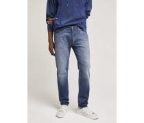 x F. Girbaud Jeans mit reflektierendem Print