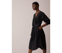 Blusenkleid aus Popeline black
