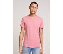 T-Shirt aus Melange Jersey pitaya