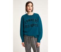 Sweatshirt mit Stickerei kingsfisher blue