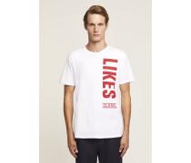 x F. Girbaud T-Shirt mit Print white