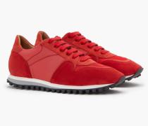 Runner im Materialmix vegas red