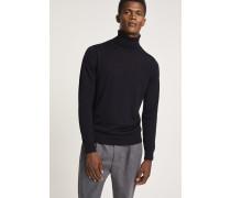 Pullover aus reinem Merino Feinstrick navy