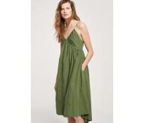 Trägerkleid aus Popeline jungle