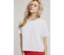 Halbarm Sweatshirt light grey melange