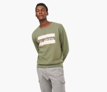 Sweatshirt mit Print vintage green