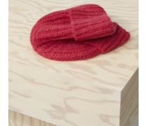 Strickmütze aus Royal Baby Alpaka Mix ruby