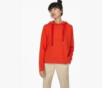 Kapuzensweatshirt mit  Print orange lava