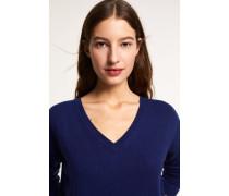 V-Pullover aus reinem Cashmere japanese blue