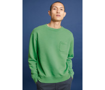 Sweatshirt mit Brusttasche washed jade