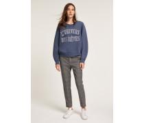 Sweatshirt mit Stickerei dusty blue