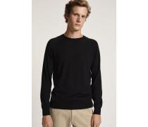 Pullover aus reinem Merino Feinstrick black