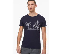 T-Shirt mit Stickerei navy