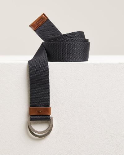 Textilgürtel mit Leder-Details rain