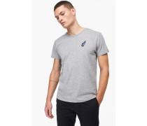 T-Shirt mit Shooting Star Badge light grey melange