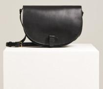 Umhängetasche aus Leder black