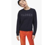 Sweatshirt mit  Print navy